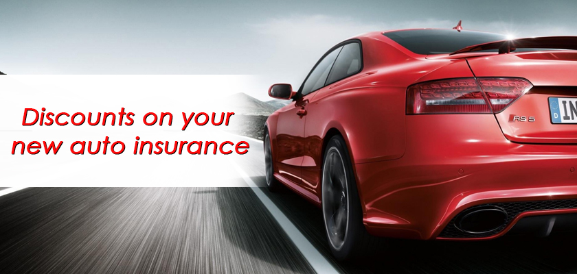 How can you get discounts on your new auto insurance?